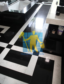 absolute black granite slab floor with white quartzite bands Guanaba