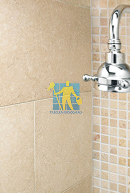 limestone tile shower thala cream Gold Coast cleaning