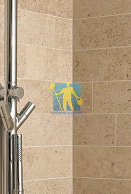 limestone tiles shower moleanos beige Gold Coast cleaning