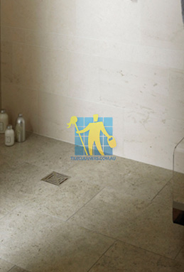 limestone tiles shower moleanos blue Gold Coast cleaning