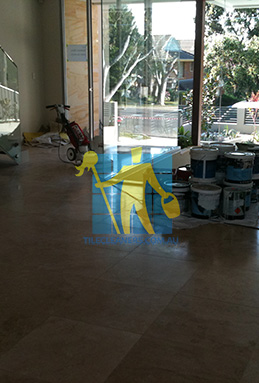 extra large porcelain floor tiles after cleaning empty room with polisher Gold Coast