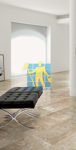 modern living room with textured rectangular porcelain tiles on floor Gold Coast