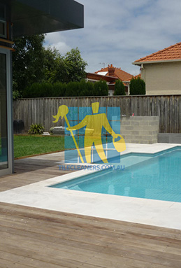 outdoor sandstone tiles pool coping snow white Gold Coast